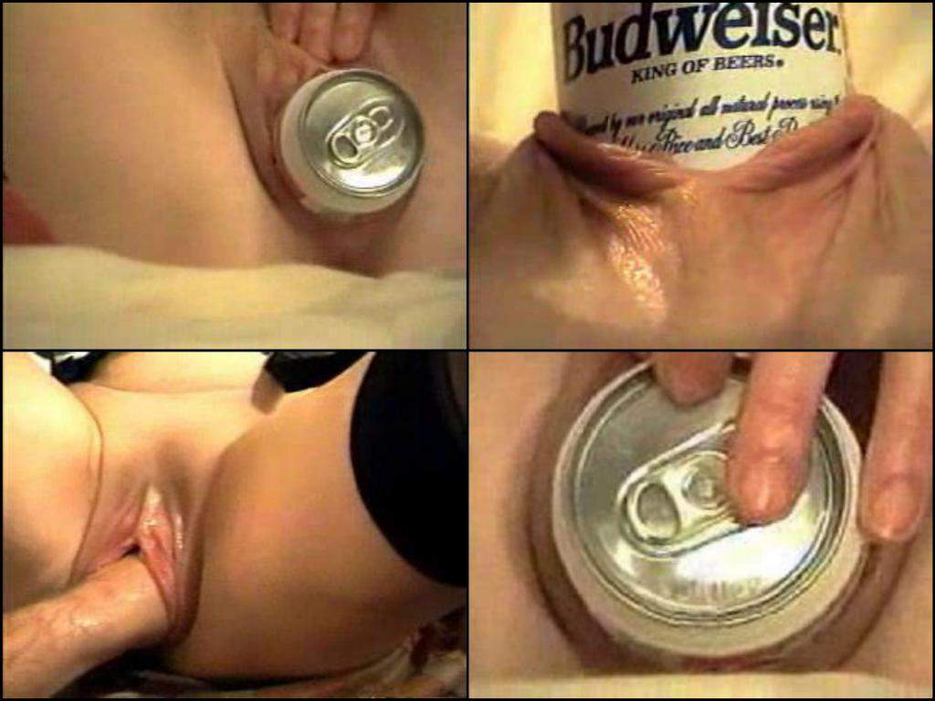 beer tin pussy penetration,deep pussy insertion beer can,beer tin full vagina insertion,fisting pussy close up,fisting vagina