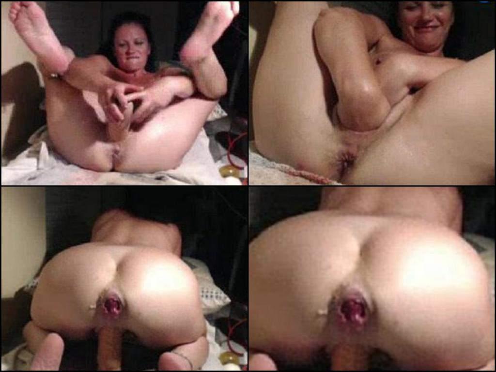 brunette dildo penetration,double fisting pussy hot brunette wife,milf double fisting pussy,dildo riding pussy hot wife,giant rosebutt ass