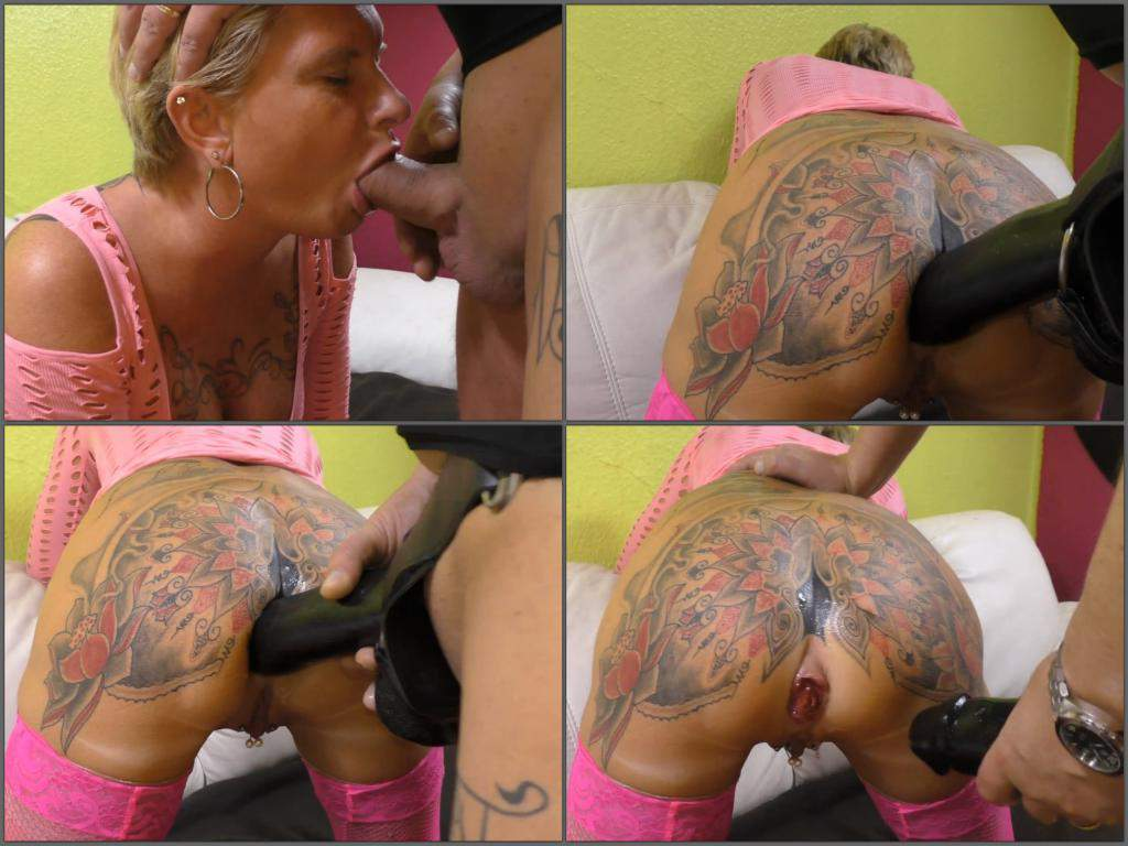 Girl gets asshole tattooed