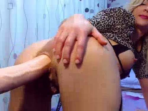 Big dildo riding horny busty milf webcam porn