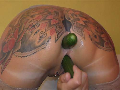 New 2017 vegetable porn anal and pussy tattooed milf