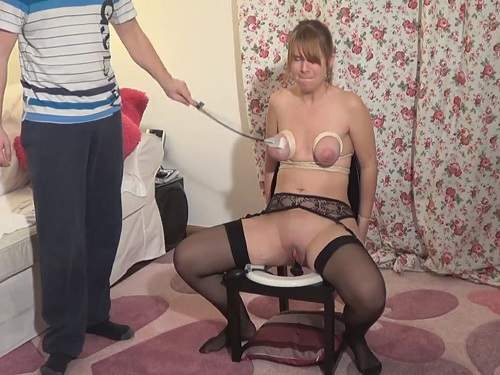 Young husband bdsm and dildo domination to sexy wife