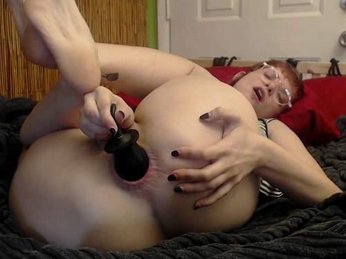 New 19.04.2017 webcam girl inflatable dildo fuck in gape anal