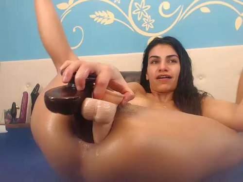 Double dildo fuck in ass horny brunette webcam – Release July 06, 2017