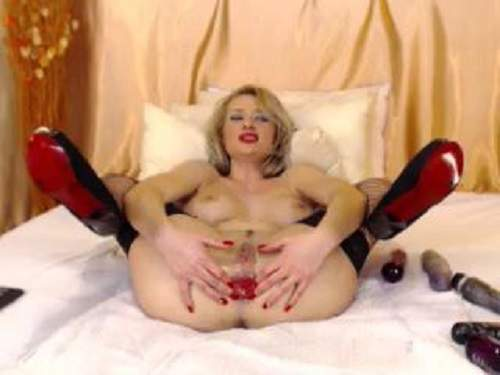 Rare live cam girl prolapse and gaping stretching