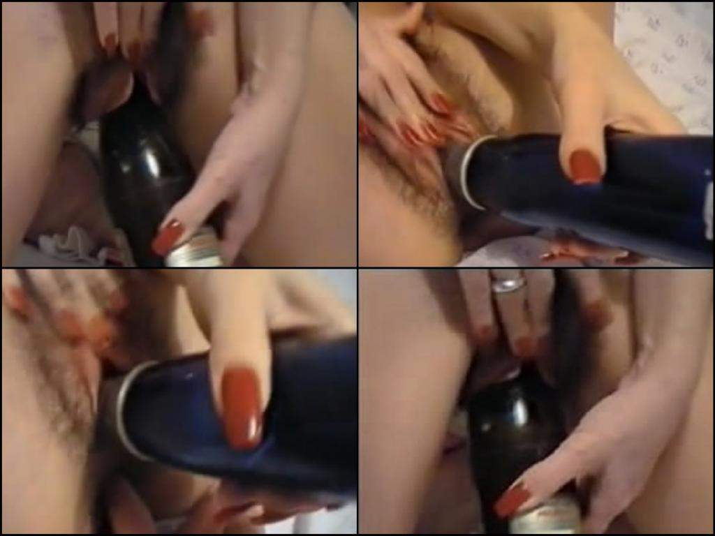 homemade girl bottle penetrate,wine bottle deep penetration,wine bottle hot fuck pussy,hairy vagina milf amateur