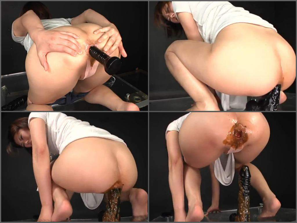Slut riding a bottle