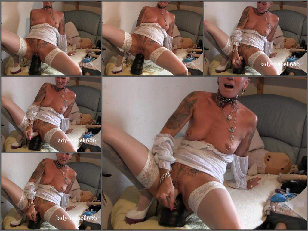 Lady-Isabell666 dildo rides,Lady-Isabell666 double dildo fuck,isabell666 monster dildo rides,monster dildo rides,huge dildo fuck,big toy insertion in cunt