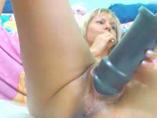 Raisa pussy fisting and giant fruit vaginal penetrated