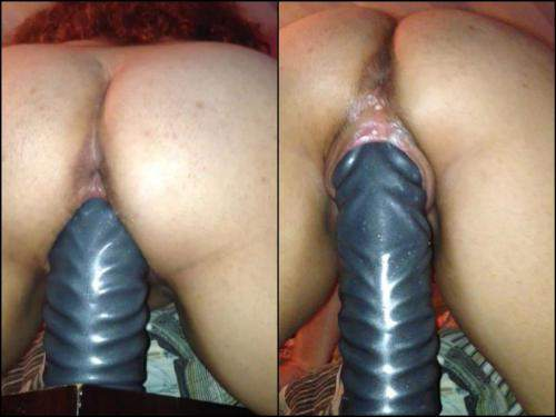 Wife at home huge dildo opinion