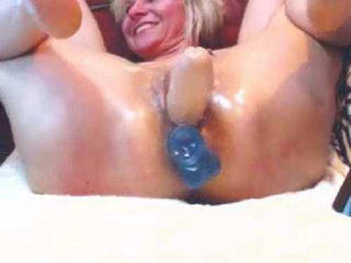 Bizarre webcam russian girl double dildo deep insertion