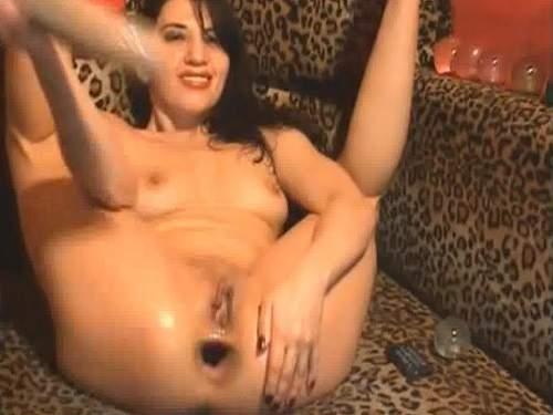 Monster asshole gaping amateur slut fisting