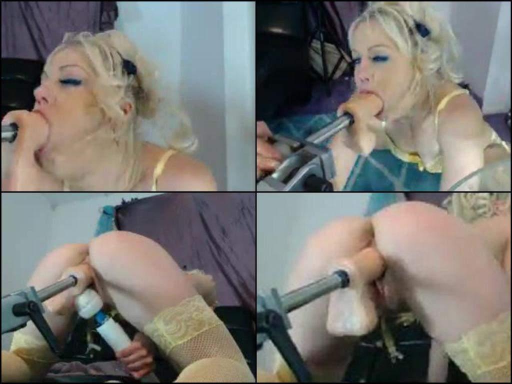 Petite Blonde Deepthroat Anal