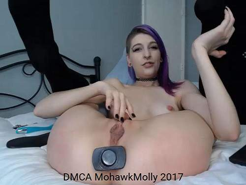 Young Teen Big Black Butplug Fully Anal  Release -4053