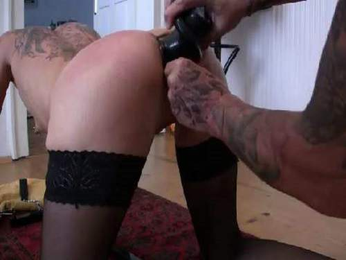 Really hot tattooed milf Lady-Isabell666 spiral dildo anal fuck
