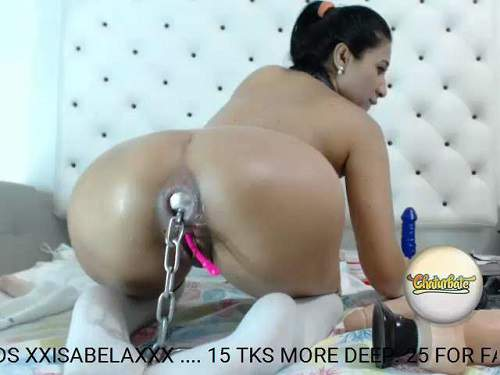 Webcam big ass teen Isabela triple dildo penetration solo – Release January 23, 2018