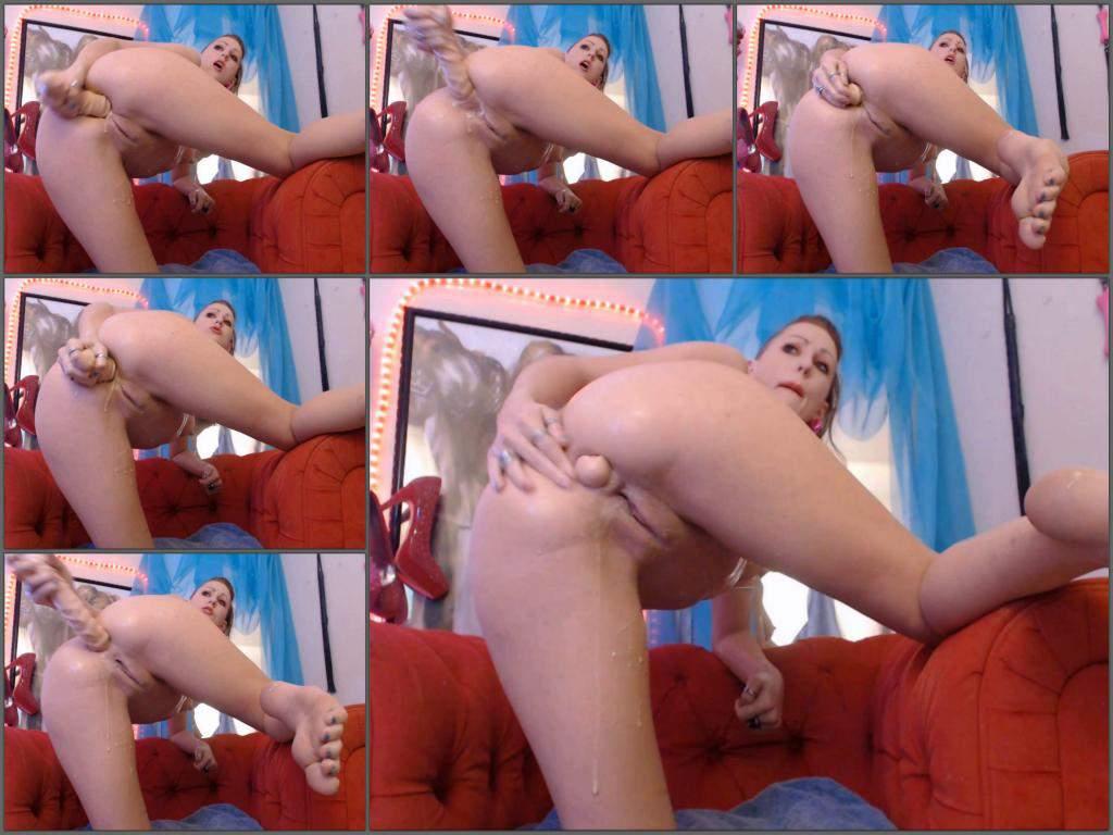 MoxiMinx dildo anal,dildo penetration,MoxiMinx dildo insertion fully,long dildo fully in ass
