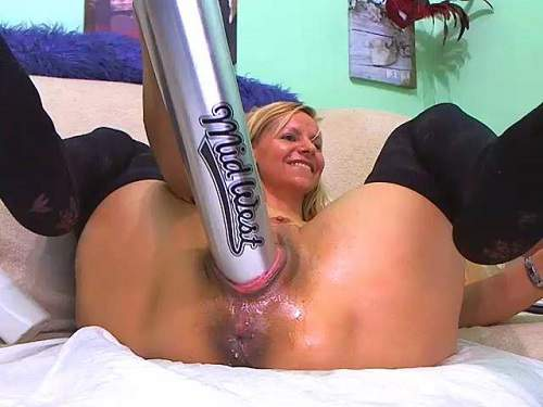 smoking fetish,smoking pussy,baseball bat penetration,baseball bat in pussy,pussy stretching,big pussy stretching,russian milf,mature stretched cunt