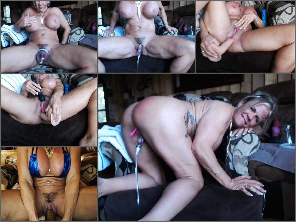 dildo penetration,busty mature,mature dildo penetration,bic clit pump,mature clit pump,muscular mature porn,huge pussy pump,huge clit pump