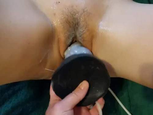 Wife gets bad dragon dildo in her sweet pussy amateur porn 2018
