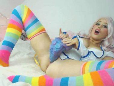 Pollyrocket_x teeny cosplay tentacle fuck webcam