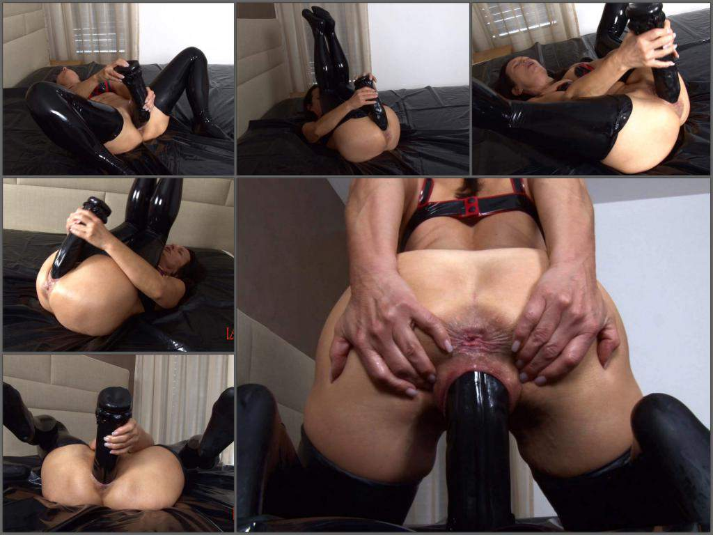 LatexAngel fucking giant dildo,LatexAngel 2018,LatexAngel dildo rides,mature dildo rides,mature dildo porn,huge dildo in pussy,mature monster black dildo penetration deeply