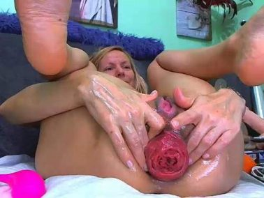 Anal prolapse ruined kinky milf after rough double fisting