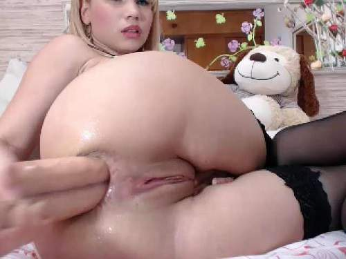 Natashaa_10 double dildo extreme penetration in gaping ass