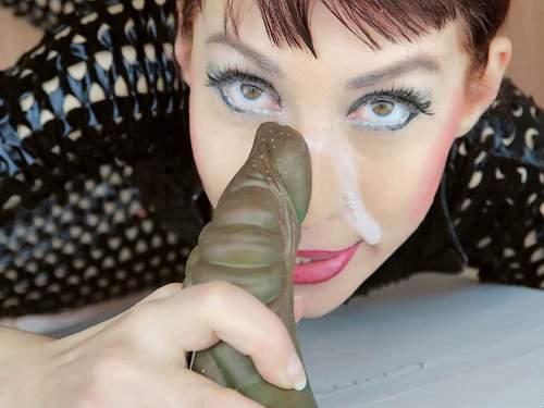 Mylene glory hole bukkake. GFE roleplay with russian camgirl