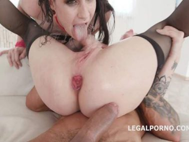 Monika Wild and Lydia Black giant butplug fully anal and rosebutt ruined part1