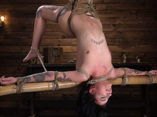 Charlotte Sartre bondage and dildo vaginal penetration domination