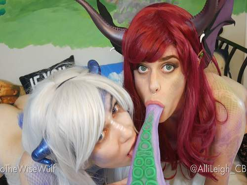 Holothewisewulf hellish delights bad dragon gangbang with devil girls