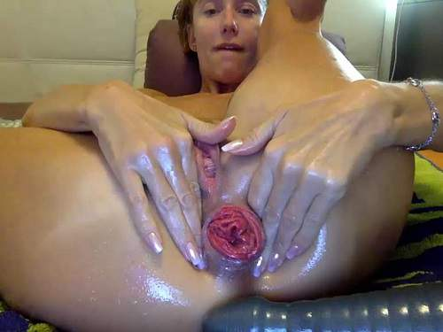 Bbmix996 anal prolapse stretching and pyramide dildo fuck