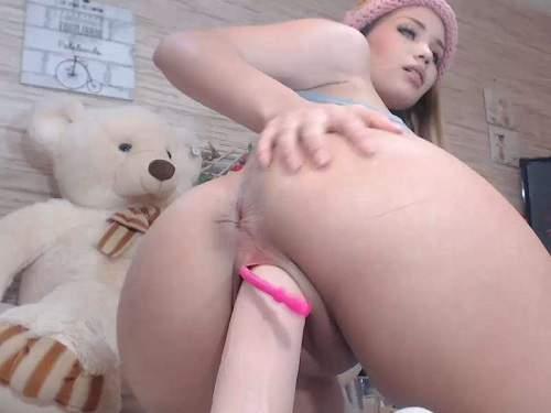 Big ass teen Natashaa_10 giant toy vaginal rides