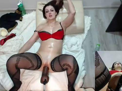 Pussy insertion – My beautiful wife games with fucking machine