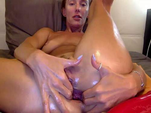 Gape ass – Russian hot MILF bbmix996 anal gape hardcore stretching after dildo insertion
