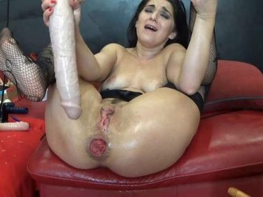 Dildo porn - BIackAngel deep fisting and toying ass to prolapse