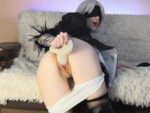 Dragon dildo – Gera_gera 2B play with baddragon nier automata webcam cosplay
