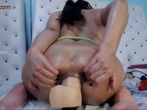 Dildo anal – Perverted big ass teen xxisabelaxxx giant dildo hardcore anal penetration closeup