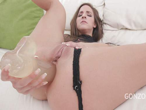 Gape ass – Amirah Adara dildo anal sex and DAP to little gape