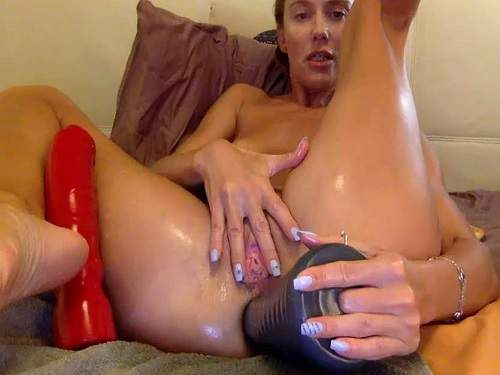 Gaping anal – Pyramide dildo deeply fuck in gaping hole with russian bbmix996