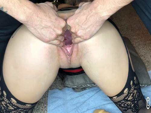 Busty girl – Busty girl Lily Skye shocking rubber dildo penetration in piercing gaping pussy