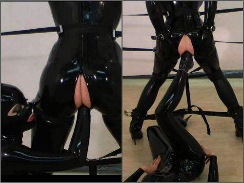 Anal – Rubber mistress anal fisting and footing domination to slave girl