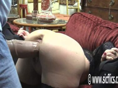 Stretching gape - Crazy MILF Hottabbycat gaping pussy stretched after strapon domination from husband