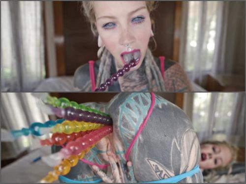 Anal – Anuskatzz tattoo teen pussy anal masturbation with many toys