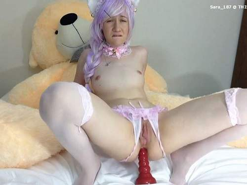 Webcam – Webcam horny teen sammysable giant dildo anal penetration