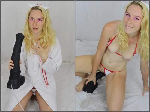 Horse dildo – Brooke Dillinger v417 nurse horse cum draining creampie webcam