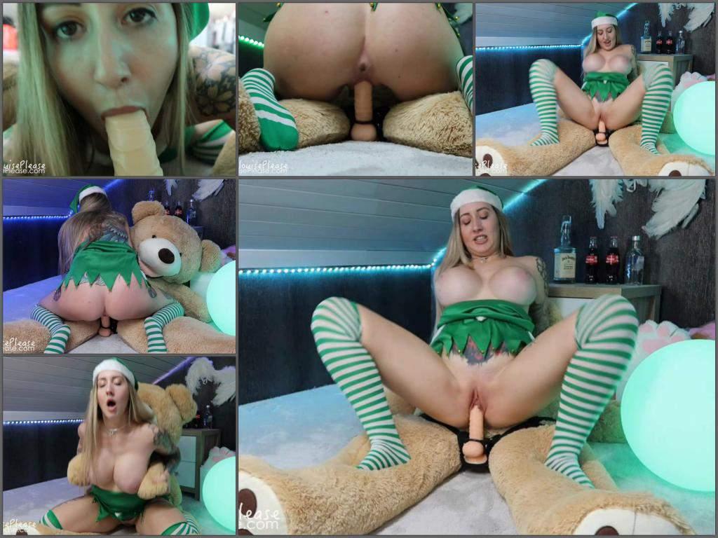 Bear Porn dildo porn – elouise please naughty elf teddy bear fuck with