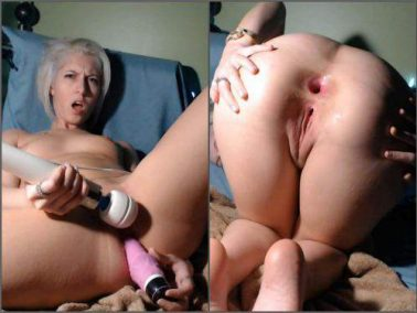 Anal - CamGirlJade big toy in my tiny asshole anal prolapse webcam