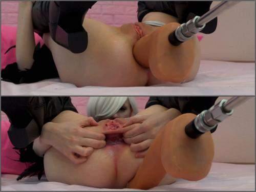 Anal stretching – Tweetney 2B machine analized to gaping hole 4k porn